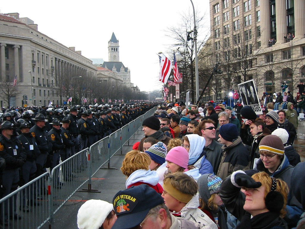Inauguration Day, 2005: View towards the White House.